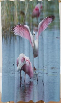 spoonbill_shower curtain